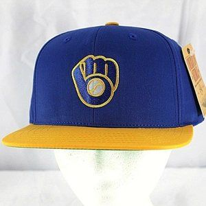 Milwaukee Brewers Blue/Yellow MLB Baseball Cap Sna